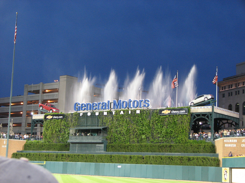 General Motors Fountain by Kevin.Ward, on Flickr