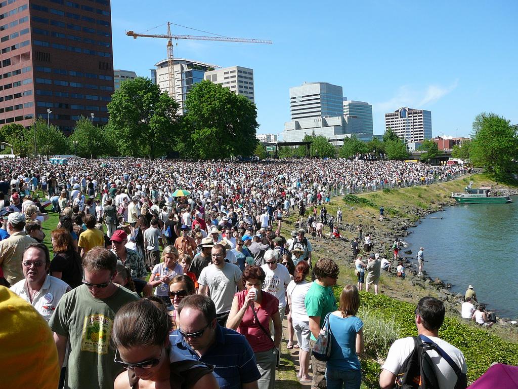 Barack Obama Rally, Portland, Oregon; To by Ryan Harvey, on Flickr