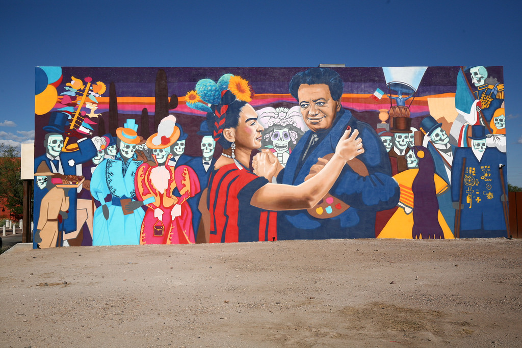 Rock Martinez Mural, Dia de los Muertos- by bamyers4az, on Flickr