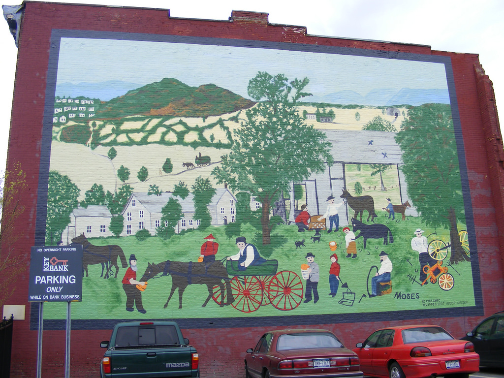Grandma Moses mural.HoosickFalls by tlparadis, on Flickr