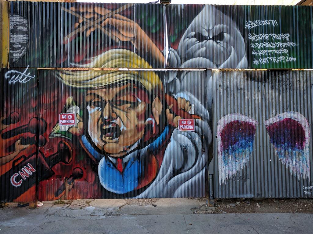 Trump mural, Downtown LA, Los Angeles, C by gruntzooki, on Flickr