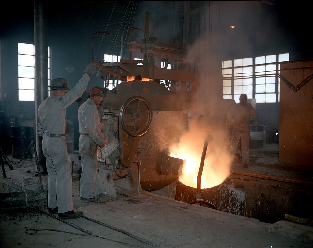 Foothills Steel Foundry workers by Provincial Archives of Alberta, on Flickr