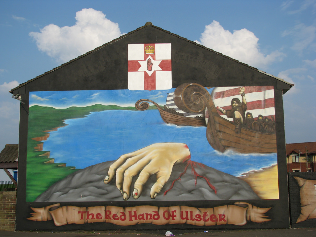Red Hand of Ulster mural by kyz, on Flickr