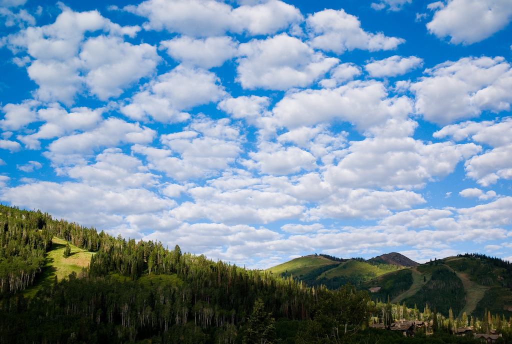 Happy clouds over Park City by Joi, on Flickr