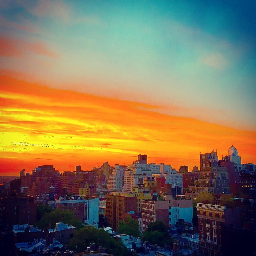 First day of summer sunset over #nyc #cu by Boss Tweed, on Flickr
