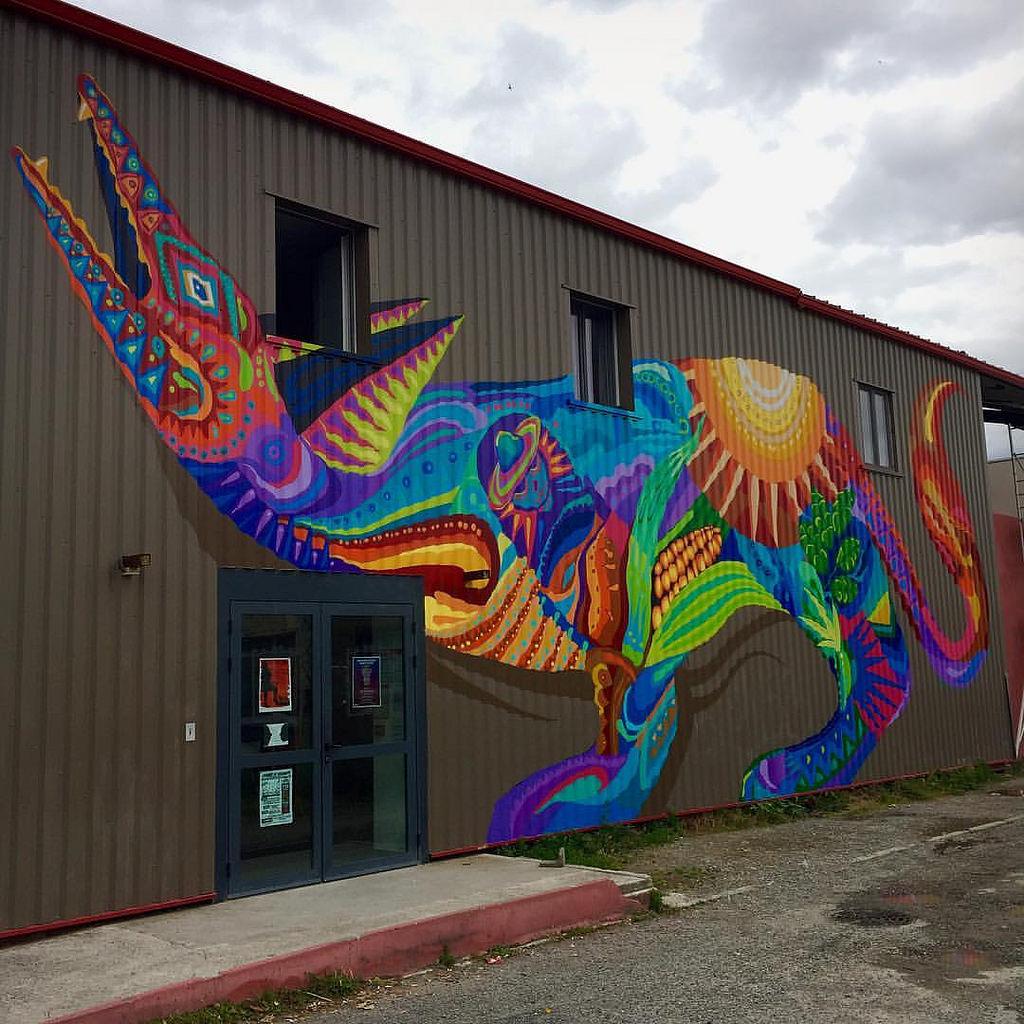El Coyote Mural para el Hangar de la Cé by GUACHE ., on Flickr