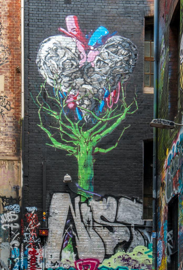 Green Tree Heart Mural by jay galvin, on Flickr