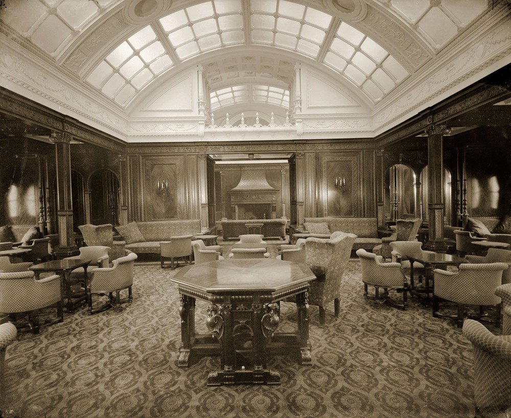 1st class smoking room on RMS Mauretania by Tyne & Wear Archives & Museums, on Flickr