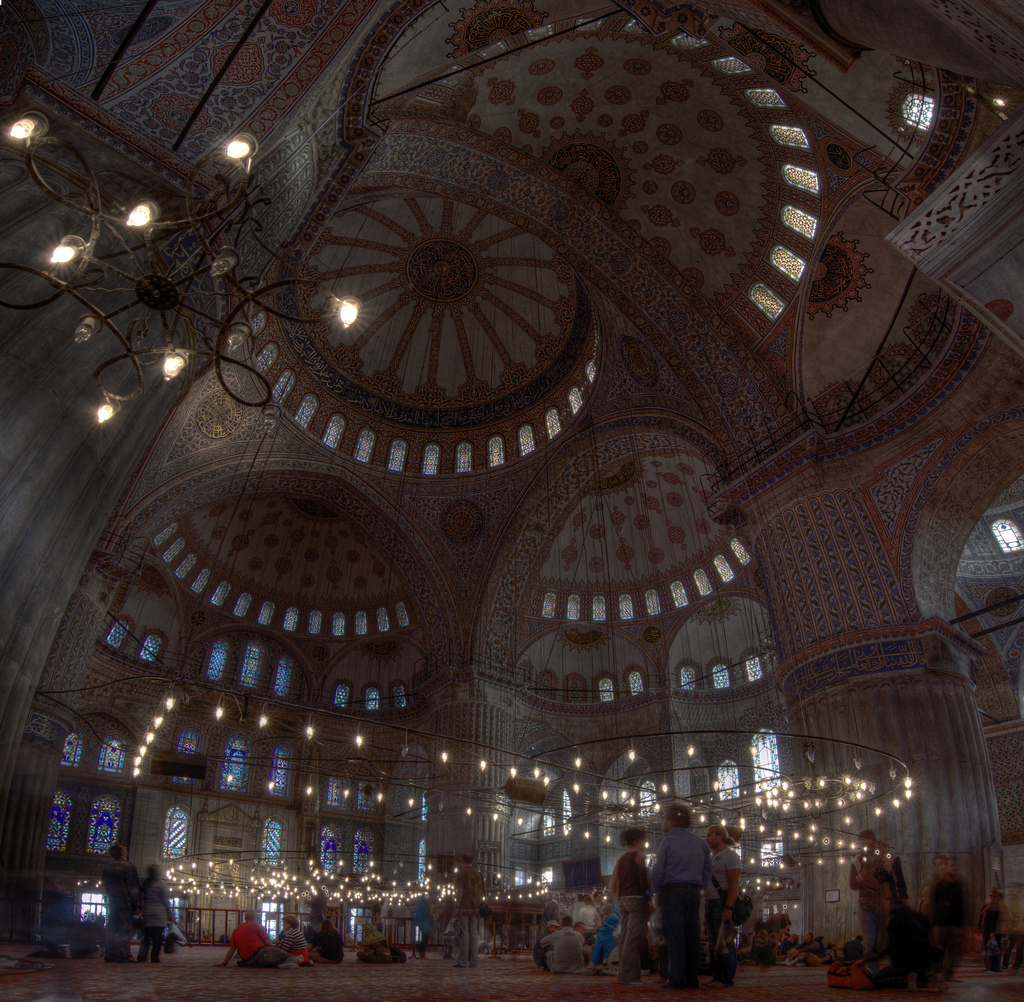Inside Blue Mosque Istanbul Constantinop by zoutedrop, on Flickr