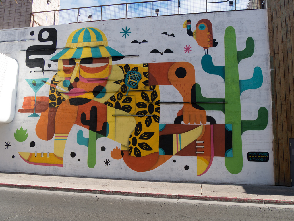Hunter S. Thompson Mural by jay galvin, on Flickr