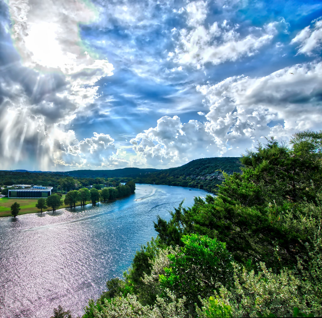 Clouds over Colorado River, Austin TX by sbmeaper1, on Flickr