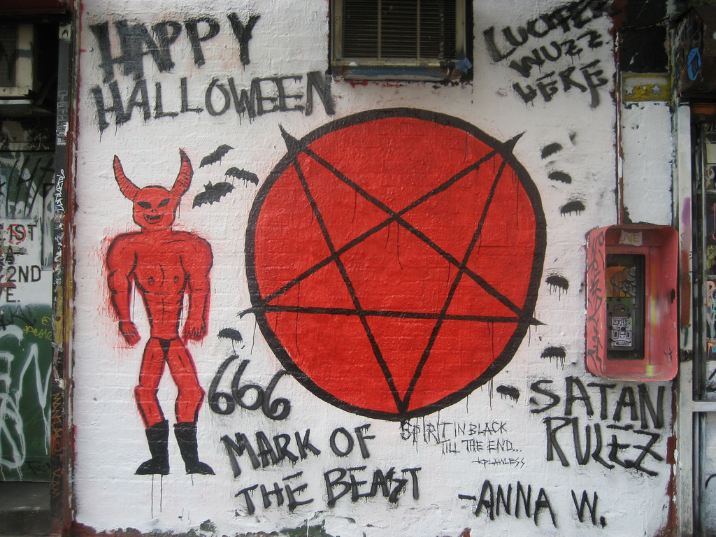 Satanic Mural on the Wall of Mars Bar by SliceofNYC, on Flickr