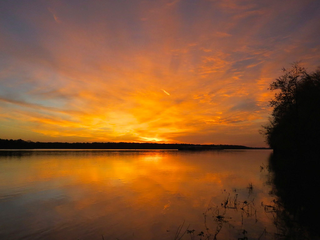 Mississippi River Sunrise by U.S. Fish and Wildlife Service - Midwest Region, on Flickr