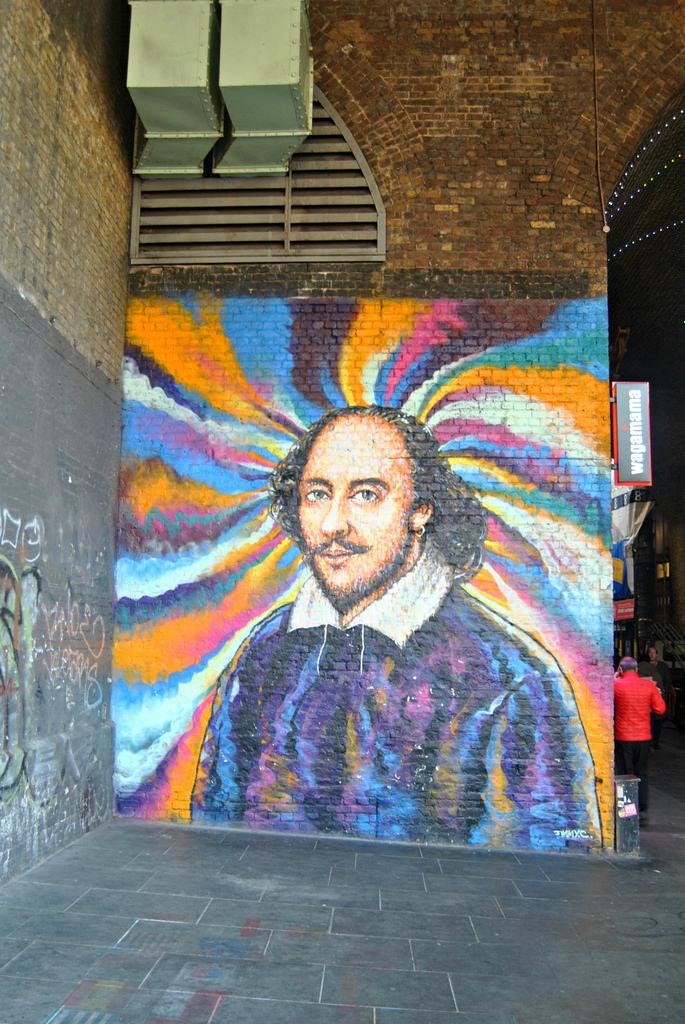 William Shakespeare Mural Bankside Londo by Loco Steve, on Flickr