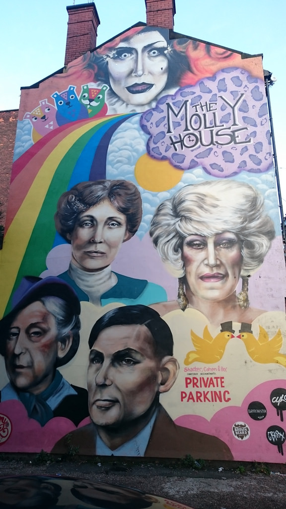 The Molly House Mural, Richmond Street, by dullhunk, on Flickr