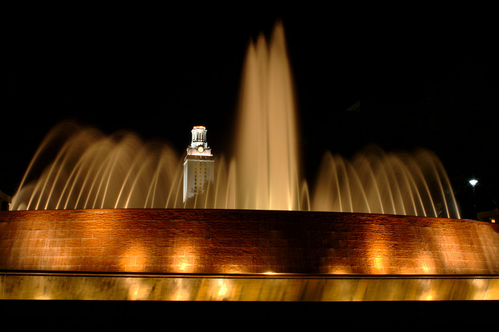 East Mall Fountain - University of Texas by Kumar Appaiah, on Flickr