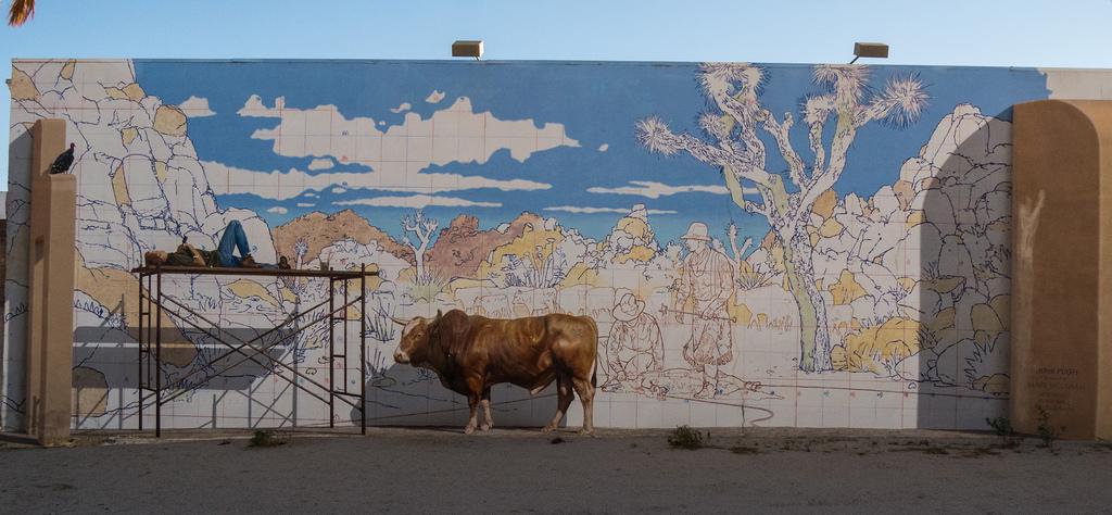 John Pugh mural of a muralist Trompe l'o by jay galvin, on Flickr
