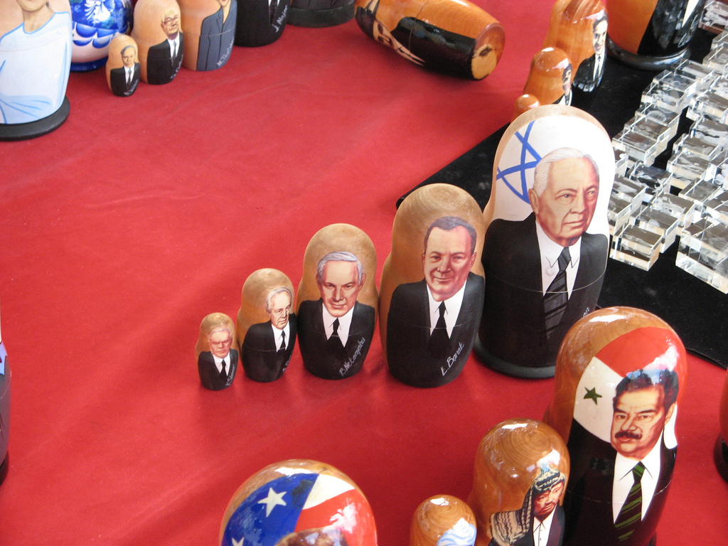 Matryoshka dolls with Israeli/Arab leade by tomer.gabel, on Flickr
