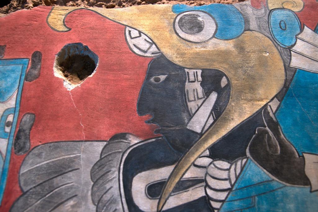 Olmeca-Xicalanca, Cacaxtla - Bird Man Mu by william.neuheisel, on Flickr