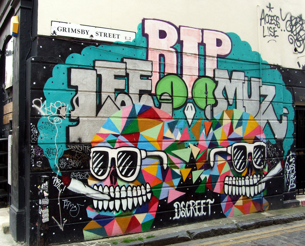 The Grimsby Street Mural, Spitalfields - by Jim Linwood, on Flickr