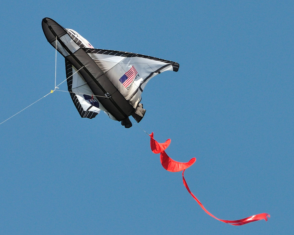 Space Shuttle Kite Flown at Shoreline Pa by donjd2, on Flickr