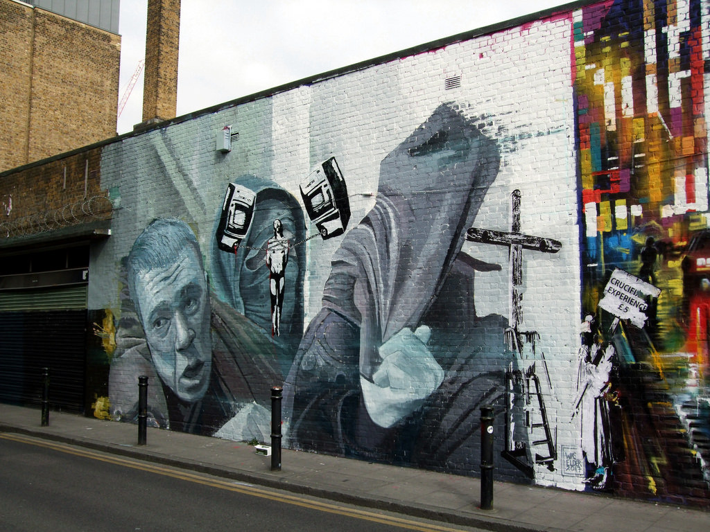 The Crucifixion Experience £5 Mural,  S by Jim Linwood, on Flickr