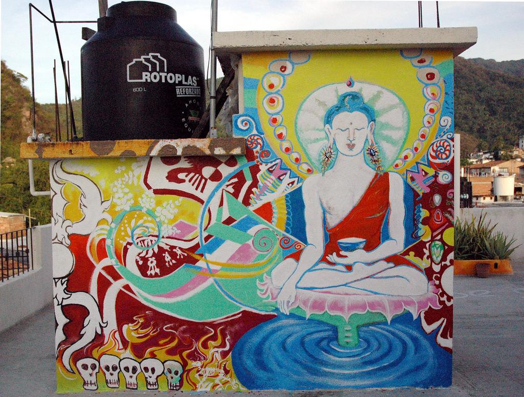 Puerto Vallarta Buddha Mural at Twilight by Wonderlane, on Flickr