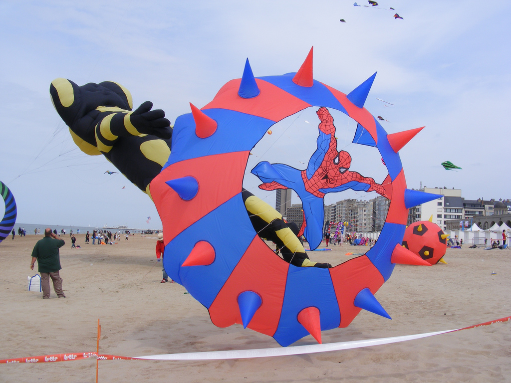 spiderman kite by sophiea, on Flickr