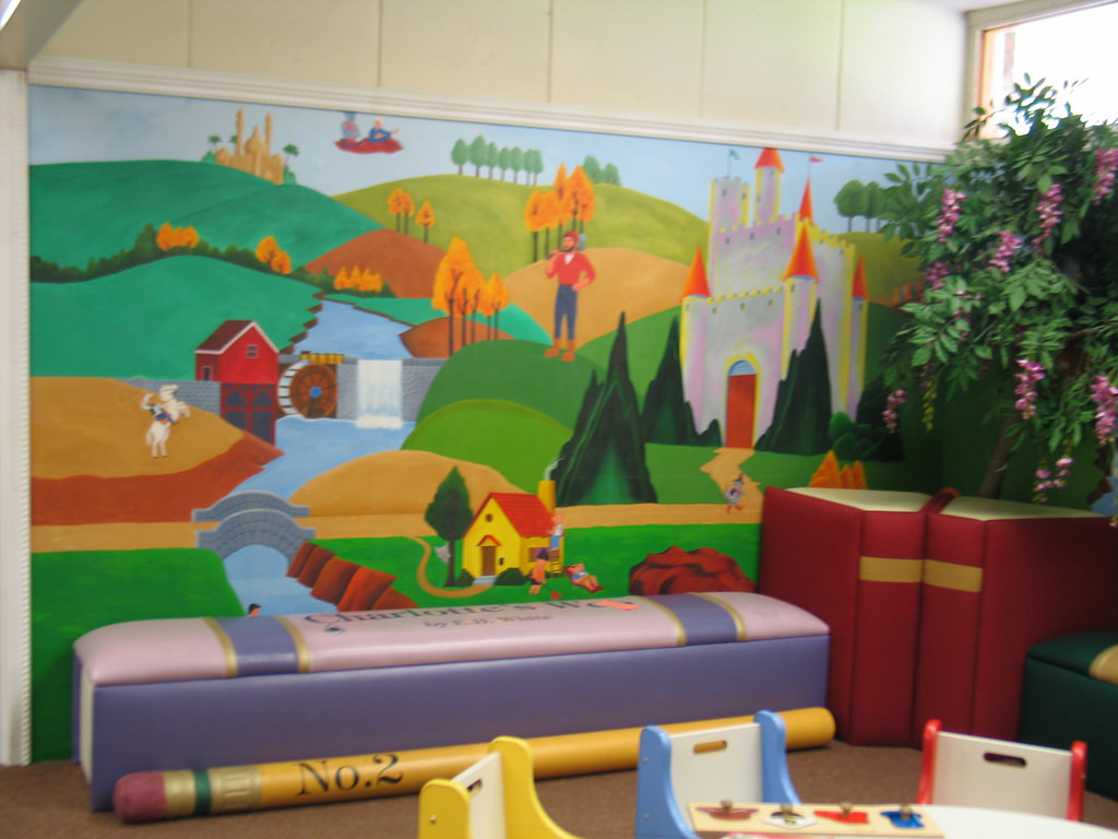 Mural in the Children's Room by Monrovia Public Library - Monrovia, California, on Flickr