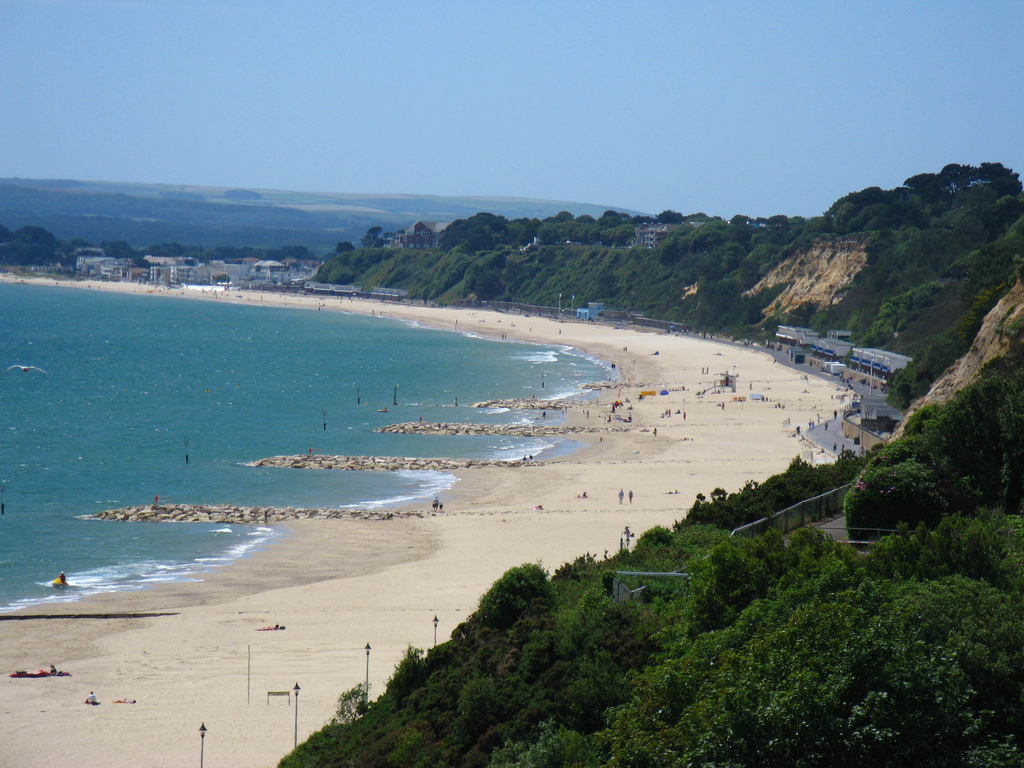 Poole beaches from the cliffs by Charles D P Miller, on Flickr