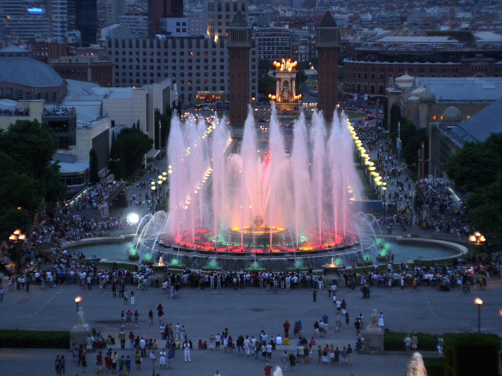 The Magic Fountain of Montjuic by threefingeredlord, on Flickr