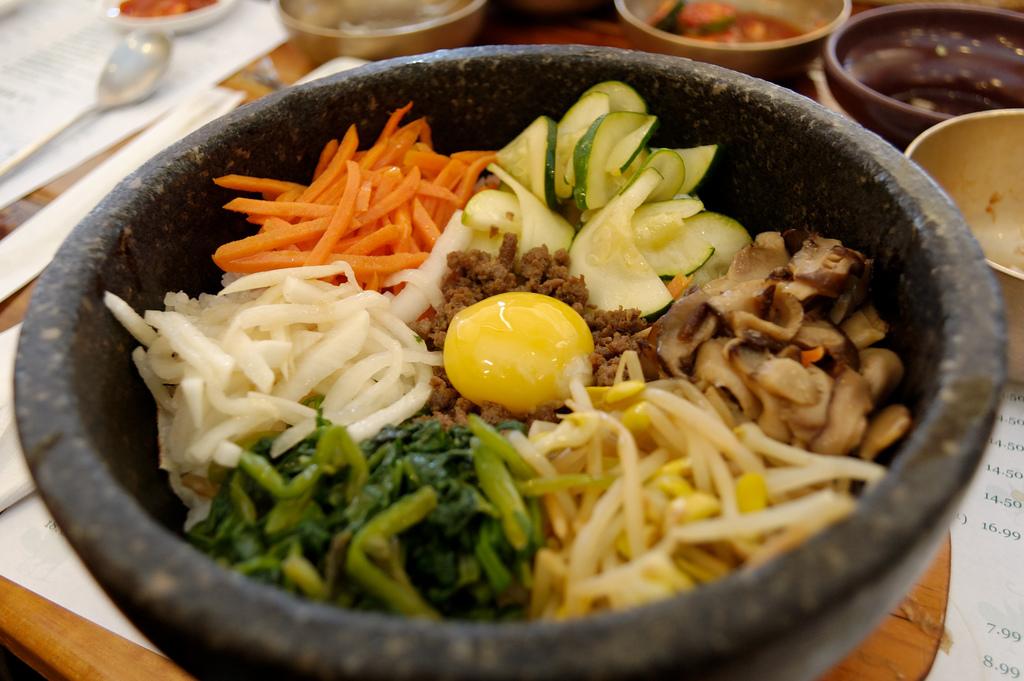 Bibimbap Dish at Korean Restaurant by gsloan, on Flickr