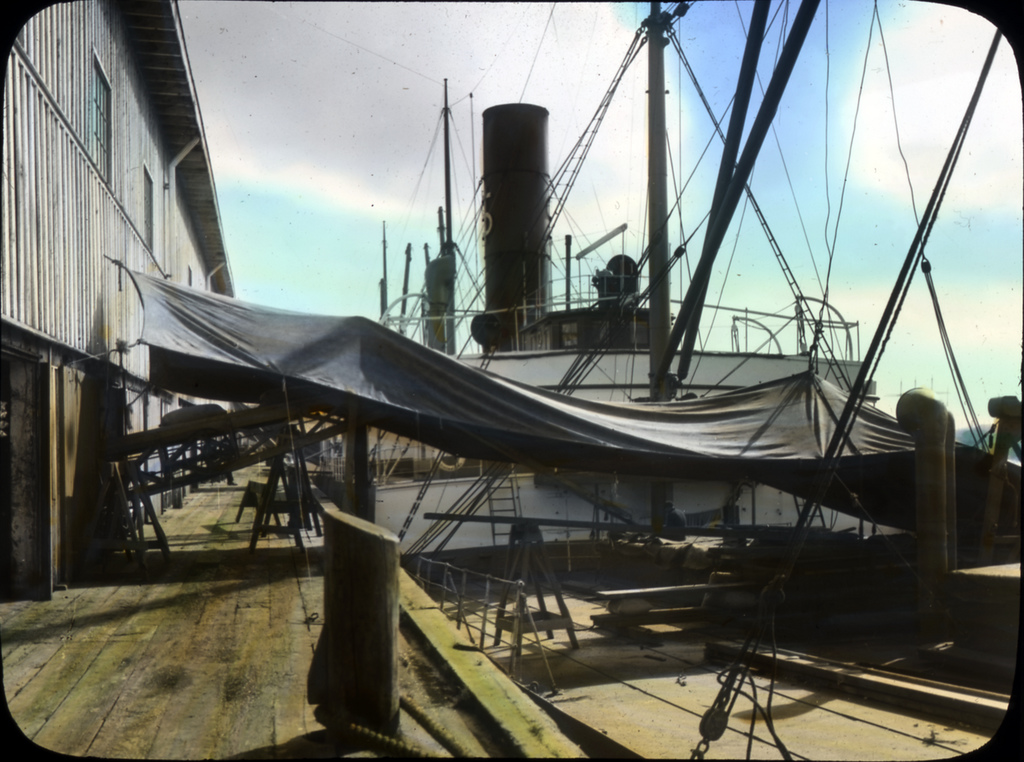 Ship ready to load wheat at Portland, Or by OSU Special Collections & Archives : Commons, on Flickr