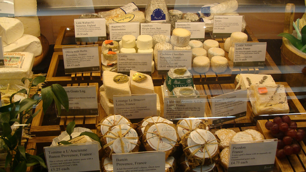 Cheese, Harrods Charcuterie, Fromagerie by nikoretro, on Flickr