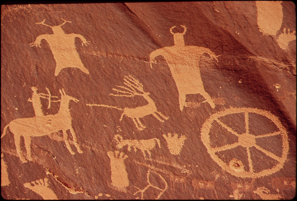 Newspaper Rock Is a Large Cliff Mural of by The U.S. National Archives, on Flickr