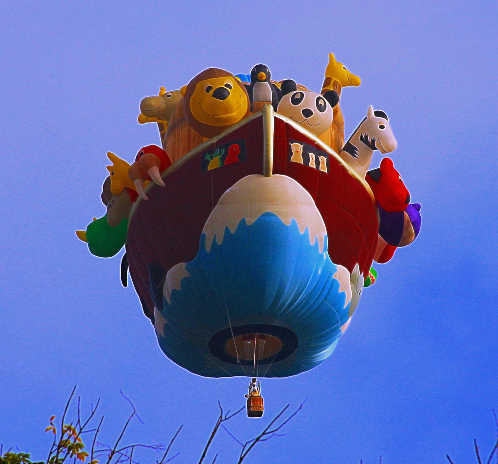 Animals on Noah's Ark Hot Air Balloon Ri by Beverly & Pack, on Flickr