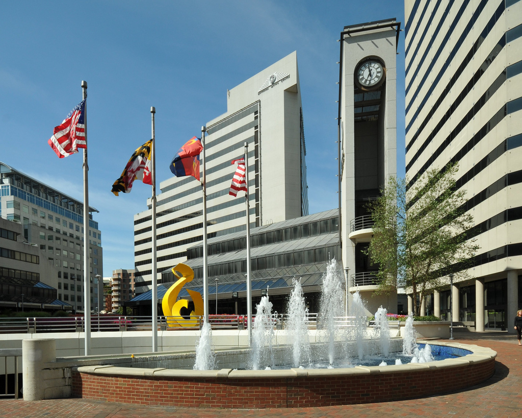 Bethesda Metro Fountain, Bethesda, MD by lorax4096, on Flickr