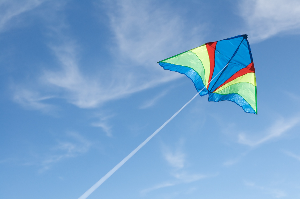 Kite in the sky by Vironevaeh, on Flickr