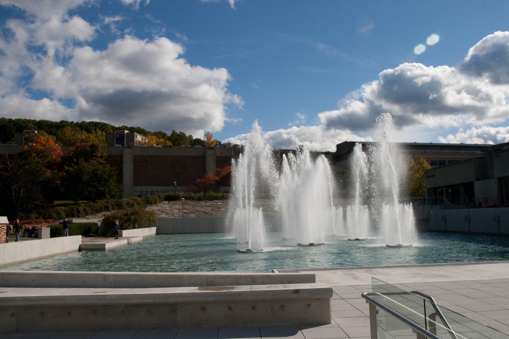 Big Fountain At Ithaca College by paul_houle, on Flickr