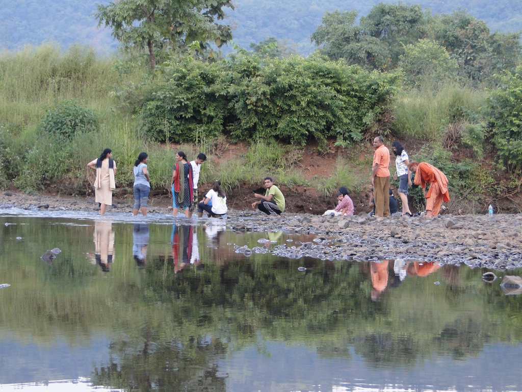 Our group at Durshet Amba river by Ankur P, on Flickr