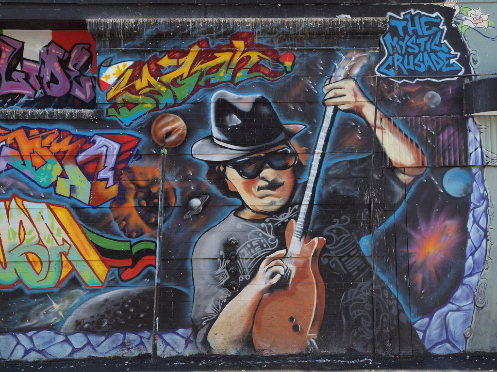 Carlos Santana Mural downtown San Franci by Franco Folini, on Flickr