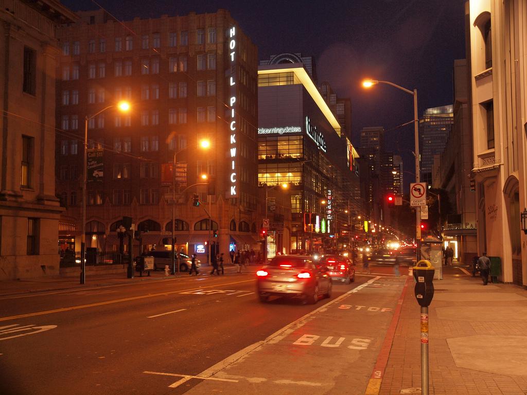 San Francisco by Night: Mission Street by Franco Folini, on Flickr