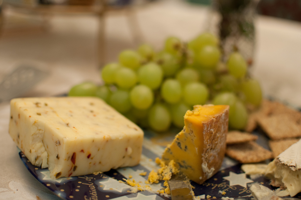 Cheese platter by sherbonbon, on Flickr