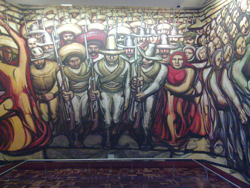 Siqueiros mural - Revolutionaries by loppear, on Flickr