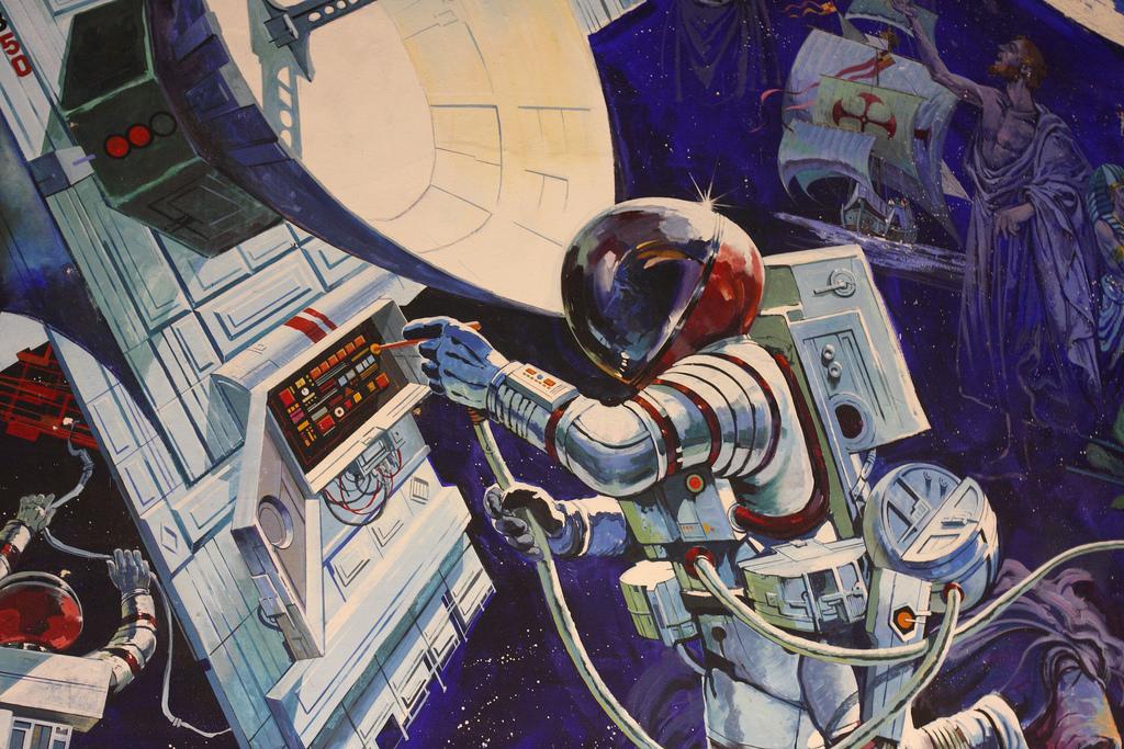 Spaceship Earth Mural 2 by Sam Howzit, on Flickr