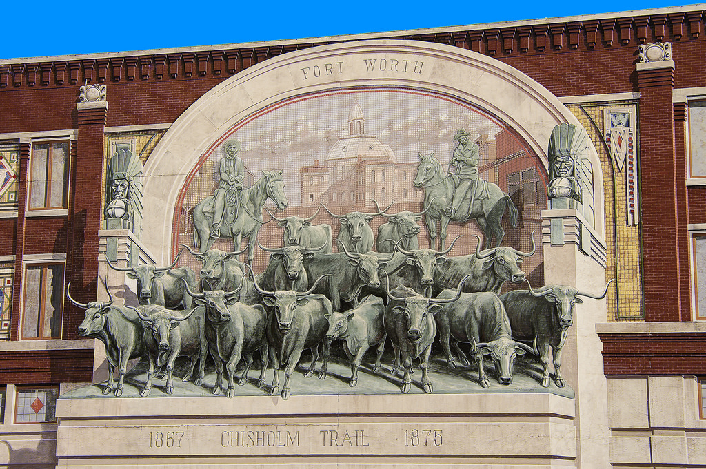 Fort Worth Chisholm Trail Mural by Robert W. Howington, on Flickr
