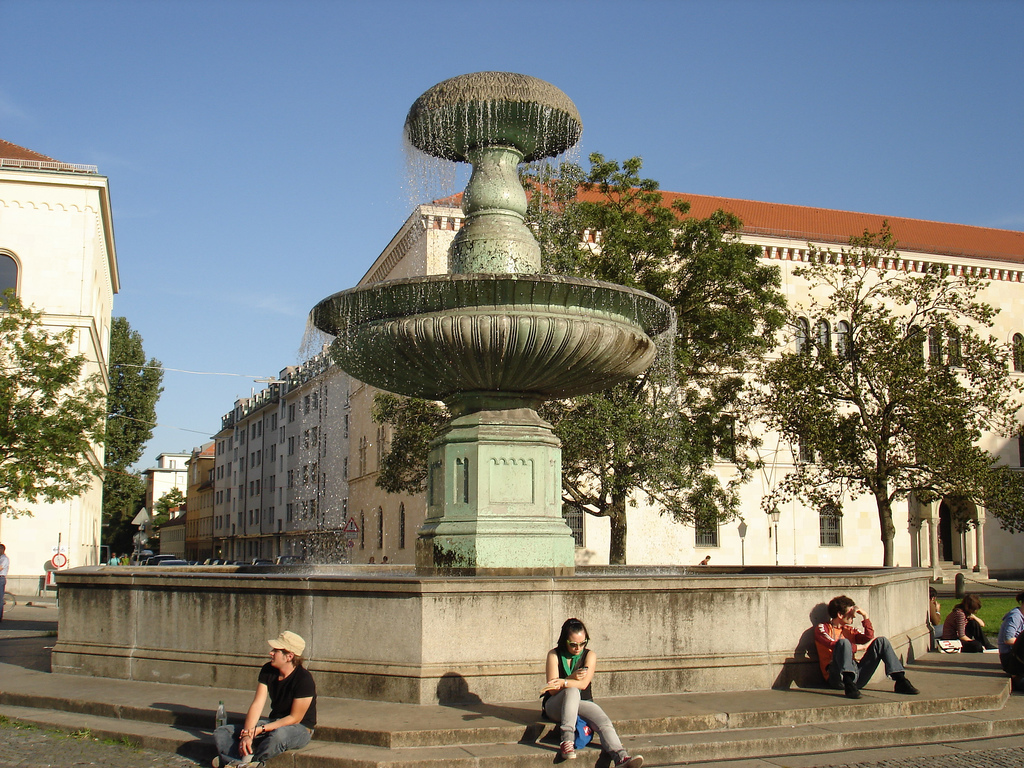 fontain LMU Munich Germany University by Depeche Mode *wrong*, on Flickr