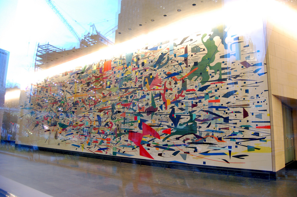 Julie Mehretu, Mural, 2010, at Goldman S by 16 Miles of String, on Flickr