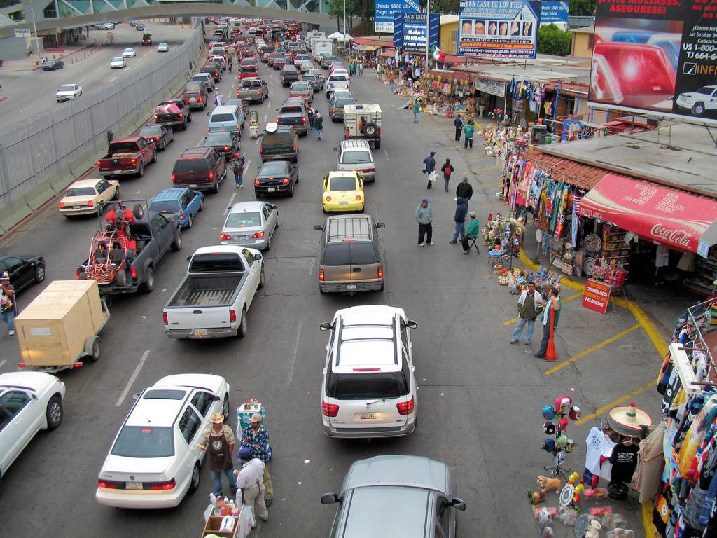 Tijuana traffic jam by Richard Masoner / Cyclelicious, on Flickr