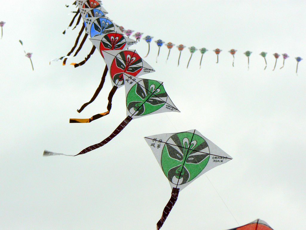 Masked kites by Will Clayton, on Flickr